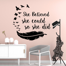 Funny English Sentences Home Decoration Accessories For Kids Room Wall Art Sticker Murals