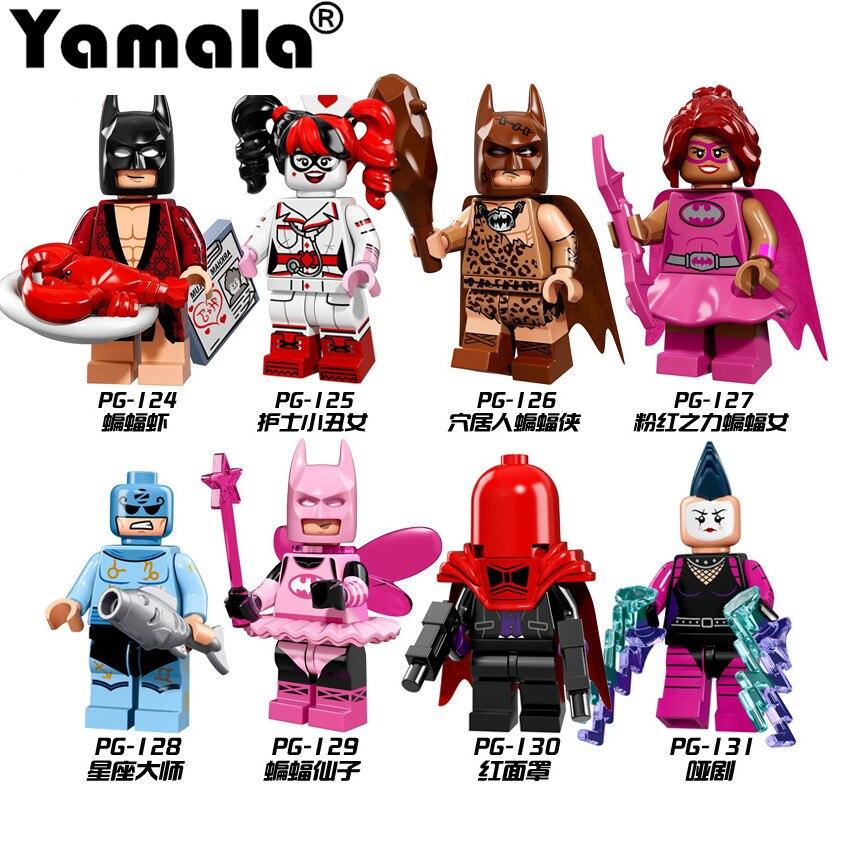 [Yamala] 1 Pcs Super Heroes Batman Movie Mini Harley Quinn Robin Killer Builidng Blocks Toys Compatible With legoINGly Batman