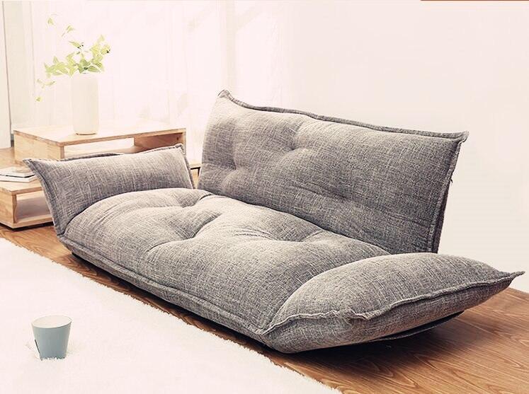 Modern Design Floor Sofa Bed 5 Position Adjustable Lazy Sofa Japanese Style Furniture Living Room Reclining Folding Sofa Couch - EasyMartz