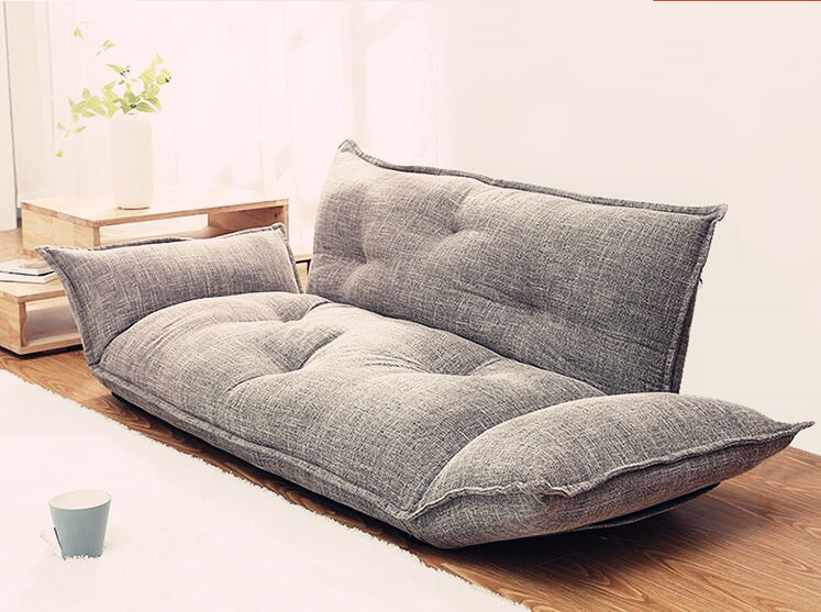 c1d10241795f Modern Design Floor Sofa Bed 5 Position Adjustable Sofa Plaid Japanese  Style Furniture Living Room Reclining ...