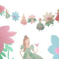 2 m Công Chúa Nhỏ Hoa Bìa Biểu Ngữ Personality Wedding Cờ Đuôi Nheo Màu Hồng Cổ Điển Party Baby Hiển Thị Vòng Hoa Trang Trí