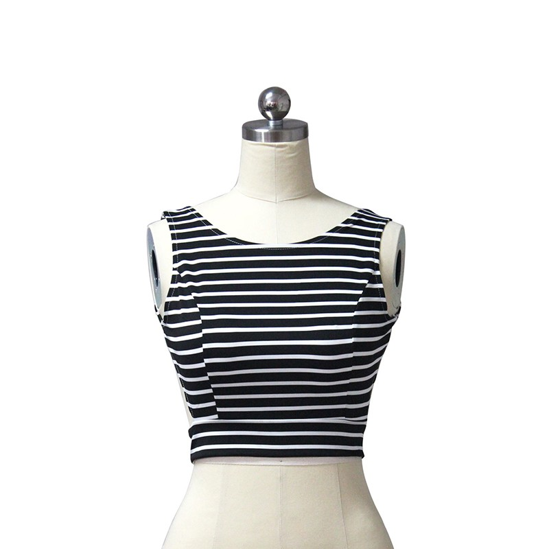Beauty Striped Crop Top