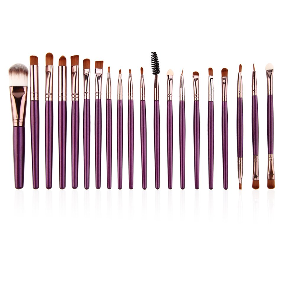 New 10 Professional Makeup Cosmetic Blush Purple Brush with Coffee Hair цена