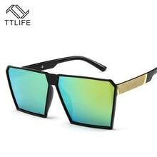 TTLIFE Big Frame Gradient Shades Oversized Sunglasses Women Square Brand Designer Vintage  Fashion Sun Glasses Oculos YJHH0112