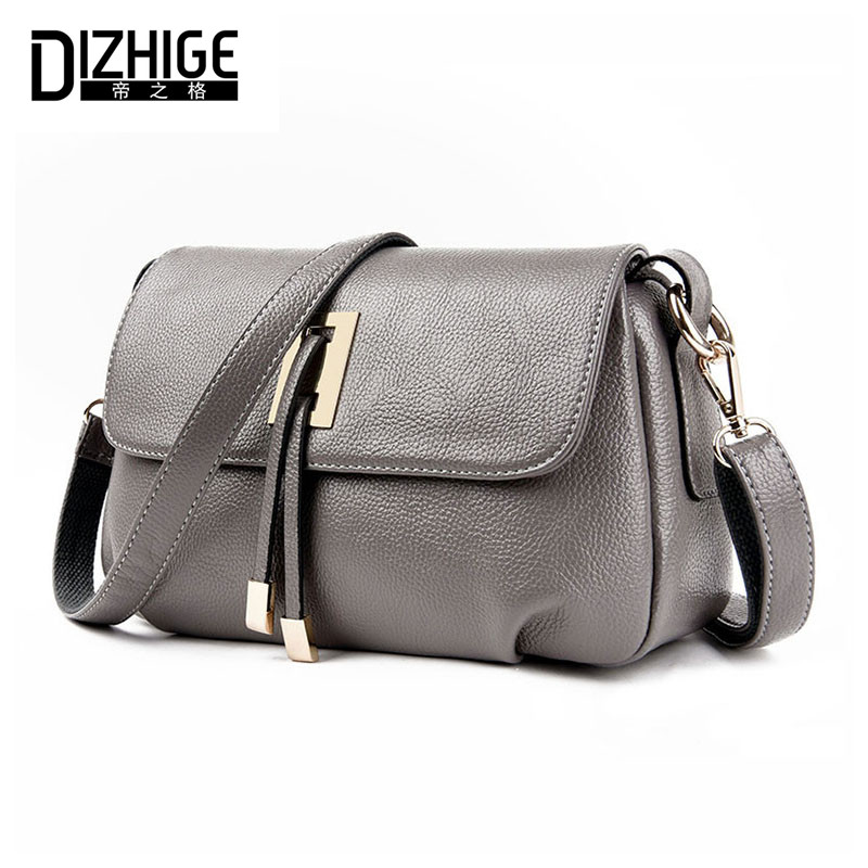 DIZHIGE Brand 2017 Summer Women Messenger Bags Genuine Leather Bags Women Handbags High Quality Sheepskin Shoulder