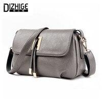 DIZHIGE Brand 2017 Summer Women Messenger Bags Genuine Leather Bags Women Handbags High Quality Sheepskin Shoulder