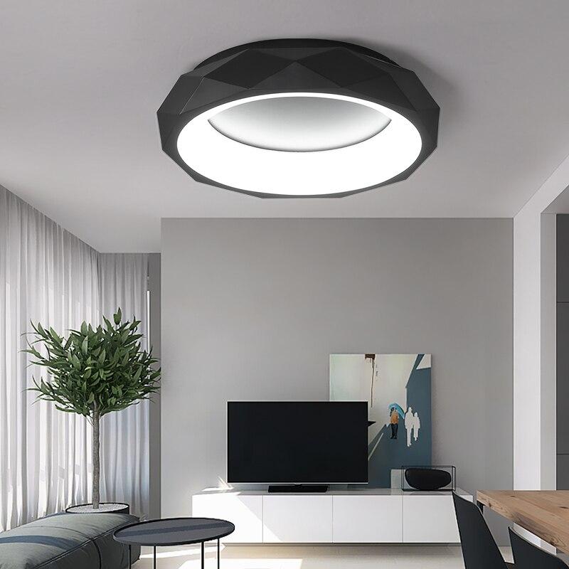 Moderne LED plafonniers Acryliques Créatifs Luminaires enfants chambre plafonniers Nordique Nouveauté Fer éclairage De Plafond Rond