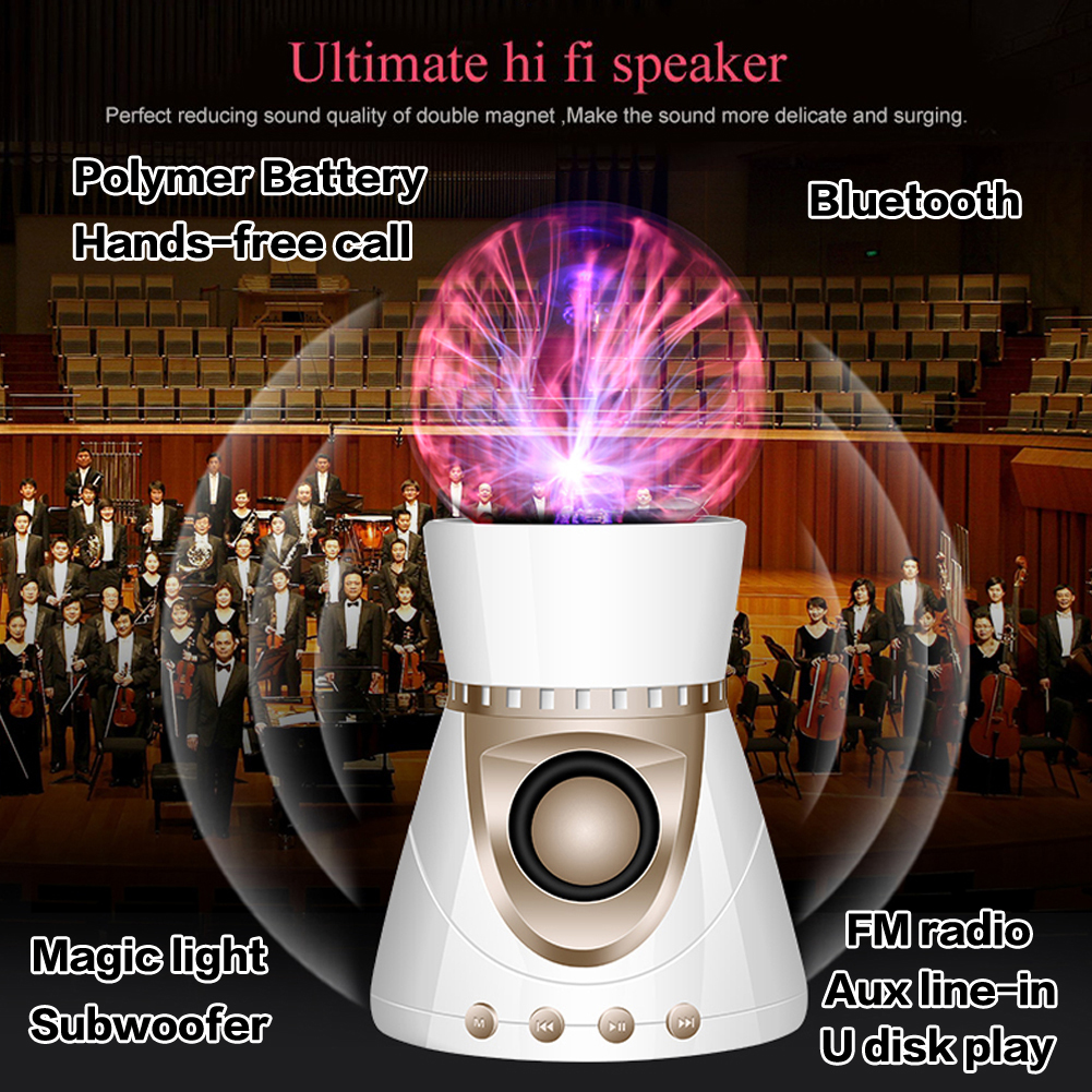 Bluetooth Speakers Red Crystal Ball Wireless Smart Hands Free Speaker Mini Portable Support AUX/USB/TF Card U disk cellphone - eChange 3C GROUP CO., LTD store