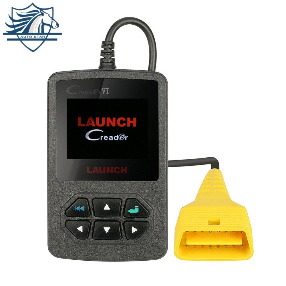 Оригинальный Launch Creader VI OBDII сканера кода Creader 6 неисправностей считыватель кода для компьютерной диагностики автомобиля 2 диагностический ин...