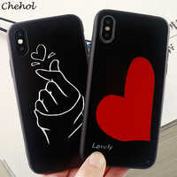 Love Heart Phone Cases for IPhone X XS MAX XR 6s 7 8 Plus Case Coat of Arms of Russia Soft Fitted Mobile Phone Cover Accessories