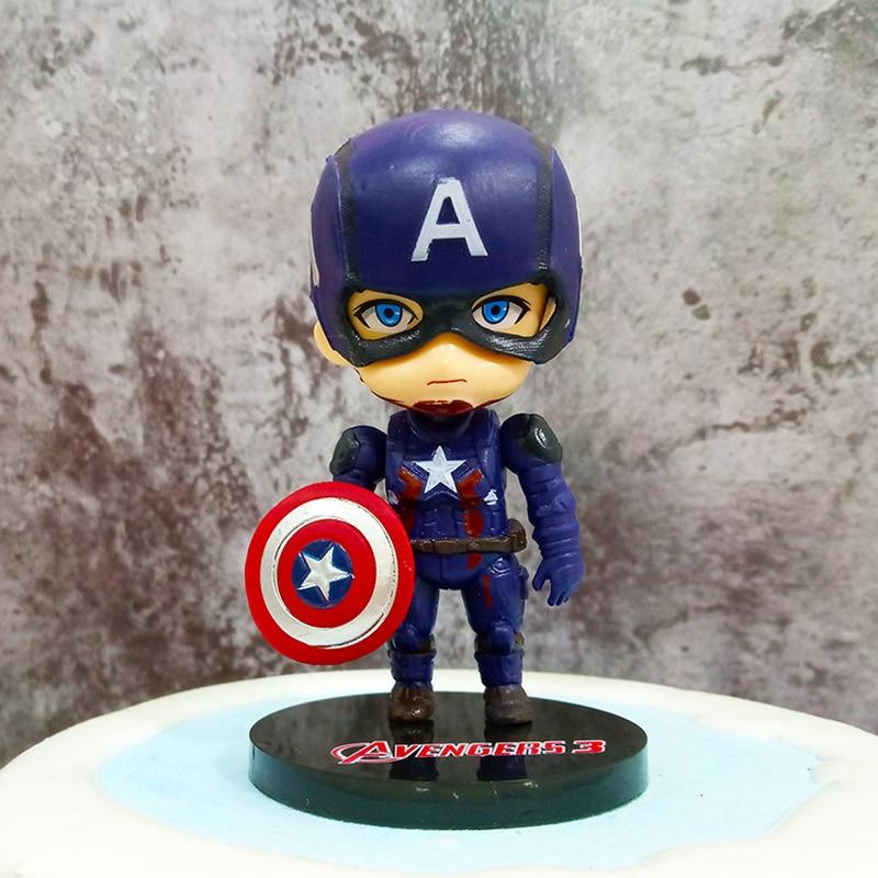10 см Marvel Мстители Бесконечность войны танос Человек-паук Халк Железный человек Капитан Америка Тор Росомаха фигурка героя игрушки куклы для детей