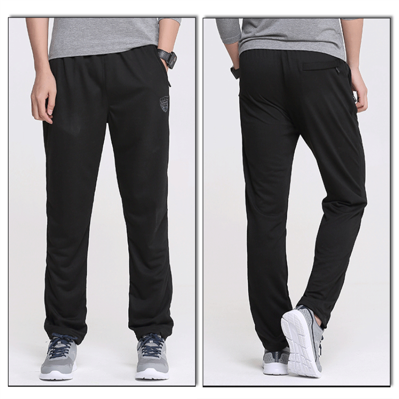 Spring and autumn thin men's quick-drying wicking fitness pants Outdoor running fitness sports straight pants Casual trousers