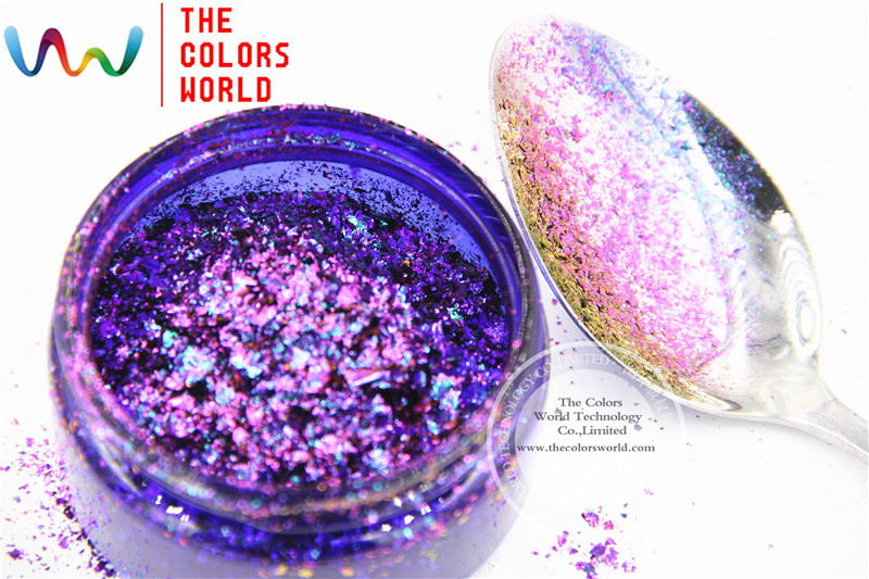 TCWB190 Chameleon Flakes Magic Effect Flakes large size chameleon  for nail Art  nail polish and  other DIY decoration корм tetra tetramin xl flakes complete food for larger tropical fish крупные хлопья для больших тропических рыб 10л 769946
