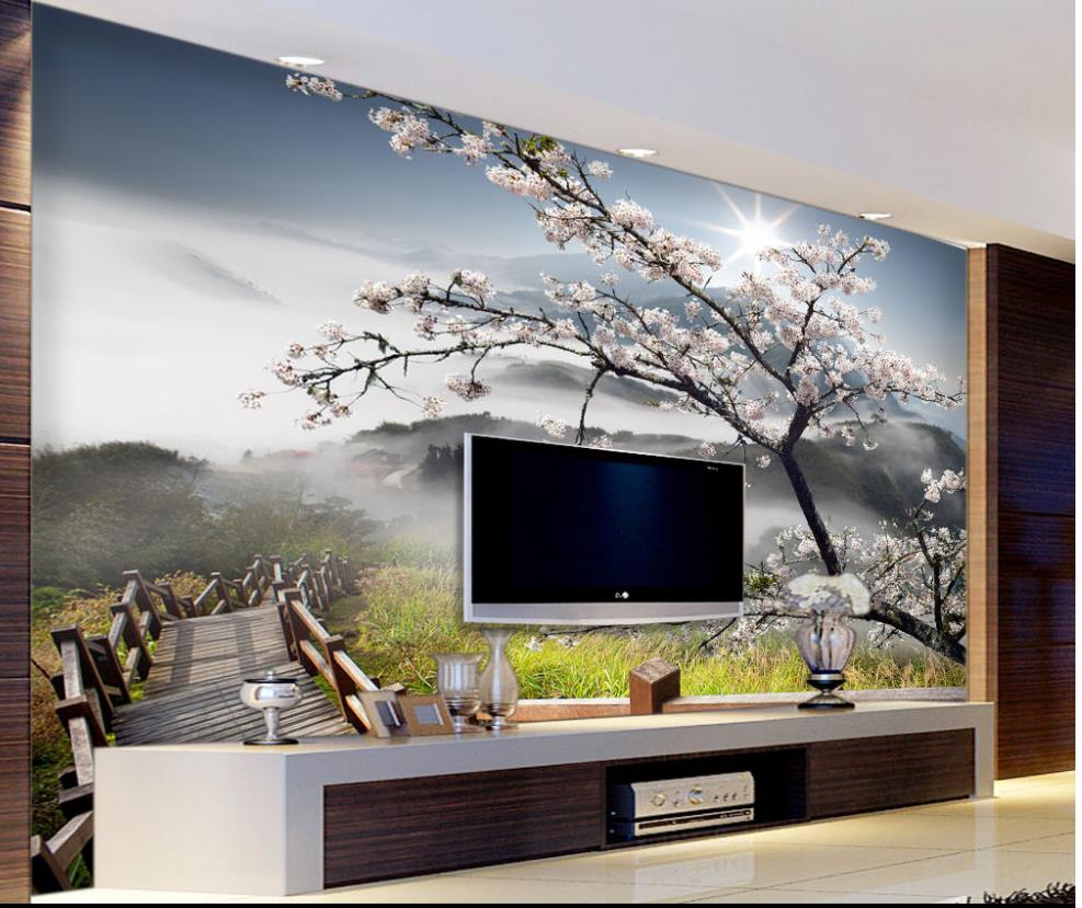 Modern Living Room Murals online get cheap 3d floral wall murals wallpaper -aliexpress