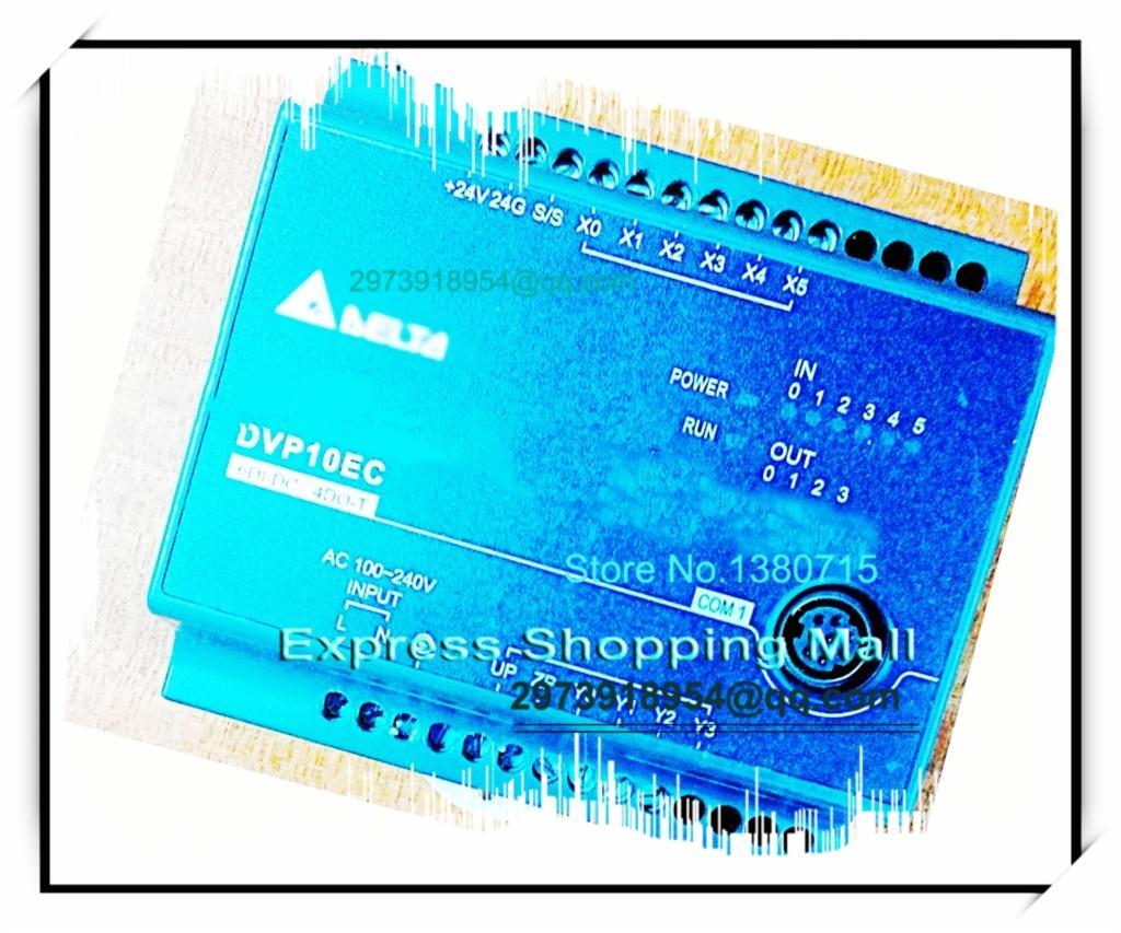 New Original DVP10EC00T3 PLC EC3 series 100-240VAC 6DI 4DO Transistor output new original dvp16ec00t3 plc ec3 series 100 240vac 8di 8do transistor output