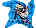 100% Pure silk printed scarf  women girl large  square fashion beautiful  autumn winter silk shawl 90*90cm  sell in 1piece-S013