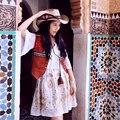 MX037 Nueva Llegada 2016 Resorte de la vendimia hippie patchwork abalorios estilo étnico bohemio de gamuza chaleco de las mujeres