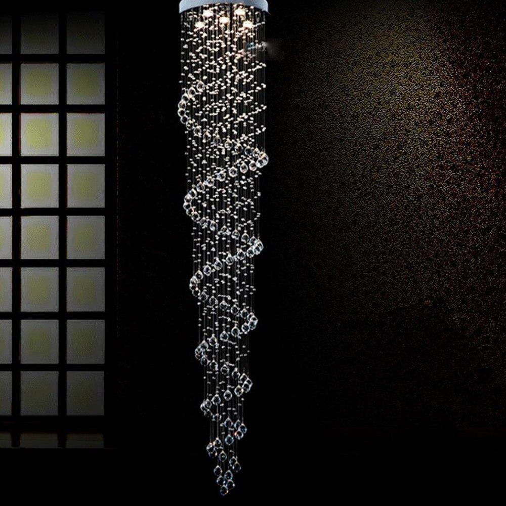 Luxury Large Spiral Round K9 Crystal Chandelier LED Lamp