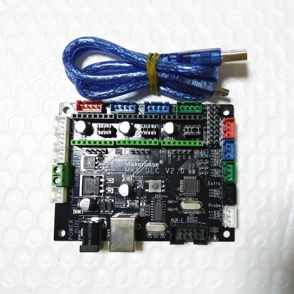 MKS DLC GRBL CNC Shield controller mainboard GRBL CNC engraving laser control board DIY CNC USB 3 axis stepper motor driver