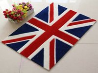 European Style Union Flag Carpet Union Jack Floor Mat Handmade Rug Anti Slip Modern Carpet British