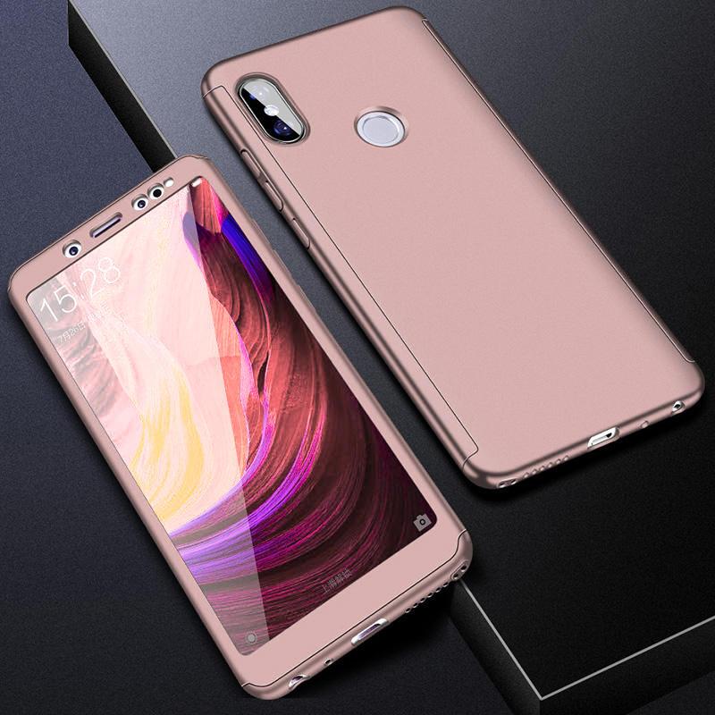 360 полный защитный чехол для телефона для Redmi Note7 note8 8A 7A для Xiaomi A3 Lite A2lite противоударный полный чехол s со стеклянной пленкой - Цвет: Розовый