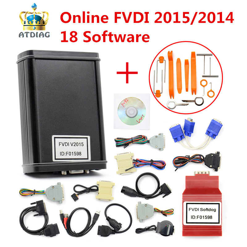 NEW FVDI 2015 V24 Full Version Including 18 Software FVDI 2014 V21 ABRITES Commander Without Limited