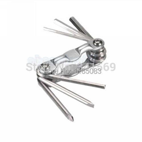Silver New Bike Bicycle cycling Carbon Steel Tool Hex key wrench 3 4 5 6mm screwdriver
