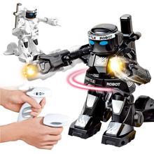 Г 2,4 г соматосенсорные пульт дистанционного управления боевой робот игрушка двойной конкурентный бой против детской модели робота
