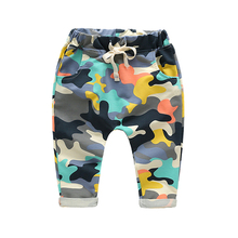 Купить с кэшбэком 2016 Hot sale size 90~120 cotton children harem pants for baby boys camouflage trousers kids child casual pants army camo 2~7yr