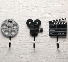 3pcs Vintage Film Equipment Resin Rack Hat Bag Hook Wall Hanger Bedroom Decor