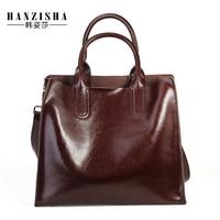 Genuine Leather Women Handbag High Quality Bags For Women 2018 Women Messenger Bag Fashion Brand Lady Tote Bolsas Feminina