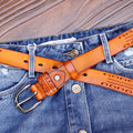 Fashion belt 2016 women genuine leahter belt for jeans hand made full grain leahter causal belt luxury brand high quality 2016