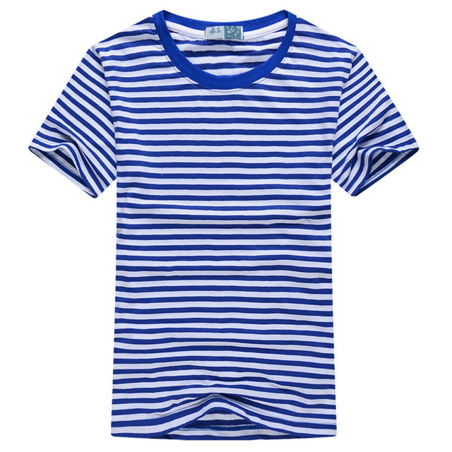La Navy Envío Rayas Camiseta Manga Corta Del Cuello Los Ocasional O 2018 Manera Nuevo Tops Hombres A Marinero Verano Masculina De dCexoBr