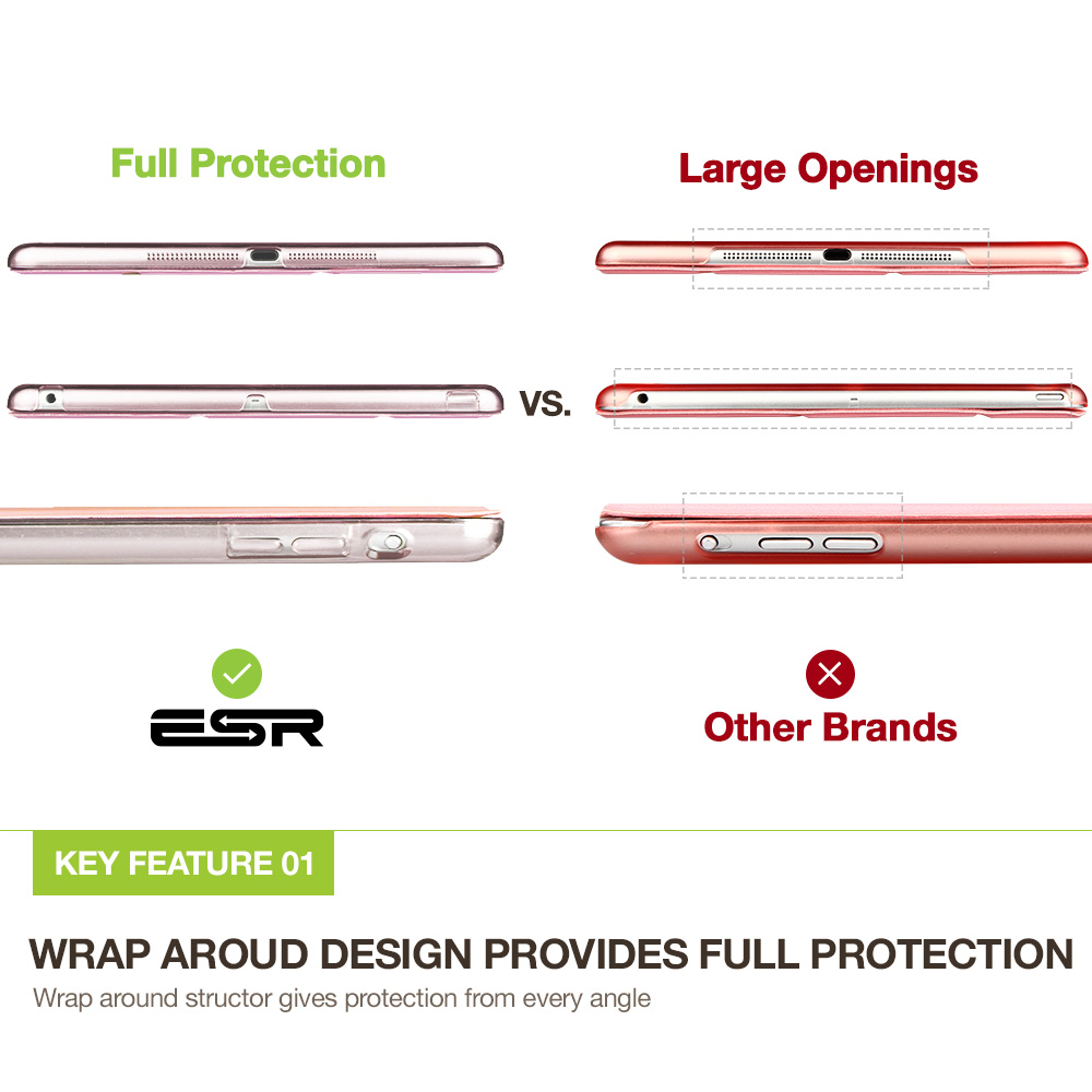 Korpus iPad mini 1 2 3 jaoks, ESR kolmekordne kate Värv Ultra Slim - Tahvelarvutite tarvikud - Foto 6