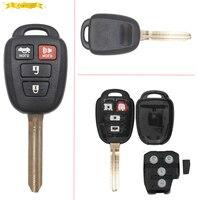 KEYECU Uncut 3 + 1 botón del Control Remoto Clave Fob Con H Chip para Toyota Camry 2014 2015 FCC ID: HYQ12BEL