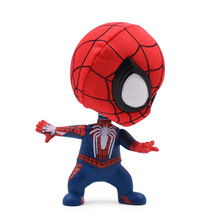 4 Western Animiation Q Style Spider-man PVC Action Figure Doll Collectible Model Toy Head Shake An On-Board Christmas Gift [funny] original box 28cm game over watch azrael black death reaper ripper action figure collectible model doll toy kids gift