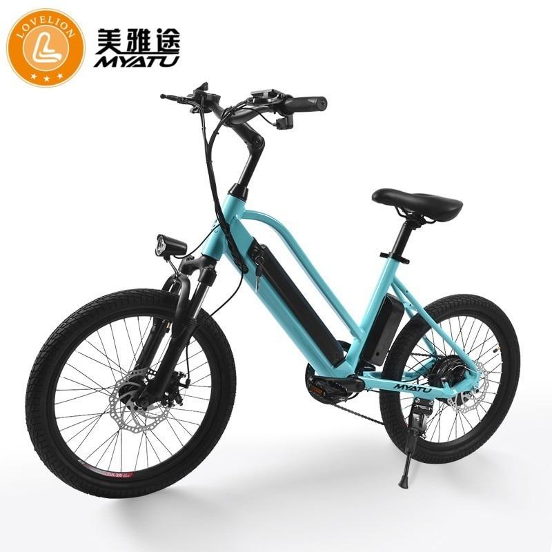 Bicicleta elétrica de pouco peso à prova dlightweight água do motor 36 v 25-32 km/h máximo ebike ip54 da liga de alumínio 250 w da bicicleta elétrica de myatu adulto