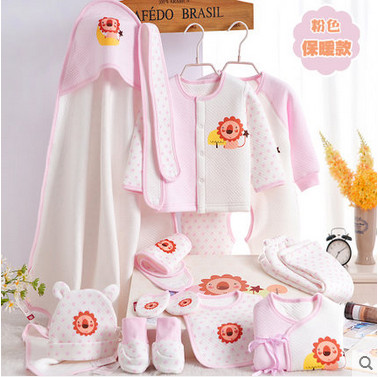 Free Shipping Baby Clothes Set 100 Cotton Newborn Gift Box Autumn