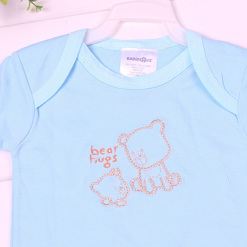 Baby boys bodysuits Short Sleeve Infant bodysuits baby bibs and bodysuits 2 piece sets Summer Baby Clothing Good Quality