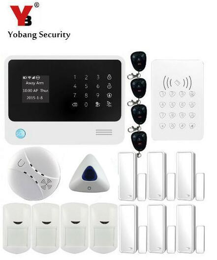 Cheap Yobang Security WIFI GSM For iOS Android APP Wireless Security Alarm System,Gsm Alarme Wifi GSM Alarm system,Wifi Smoke Detector