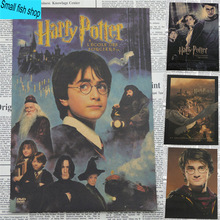 Harry Potter poster series Magic world Home Furnishing decoration Kraft Movie Poster Drawing core Wall stickers(China (Mainland))
