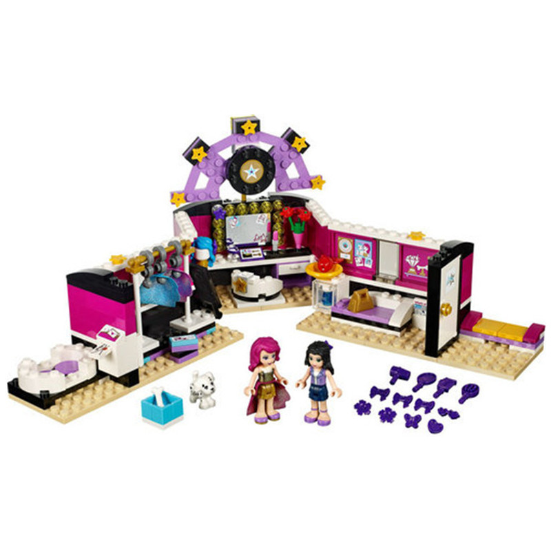 10404 Compatible Lepin Friends Pop Star Dressing Room 41104 Building Bricks Emma Mia Figure Toys For Children стоимость