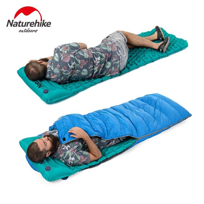 Naturehike Saco de Dormir Colchón Inflable Al Aire Libre Estera de Llenado Rápido de Aire A Prueba de Humedad Colchoneta Con Almohada Para Dormir 460g - 2