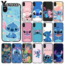 Yinuoda cute cartoon Lilo Stitch DIY Luxury High-end Protector Case for iPhone X XS MAX  6 6s 7 7plus 8 8Plus 5 5S SE XR
