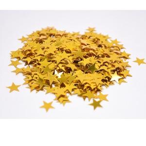 Image 3 - 6mm/10mm צבעוני בהיר זהב כוכבים אקריליק קונפטי חתונה עבור בלון חדש שנה חתונה מסיבת יום הולדת שולחן קישוטים