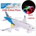 Новая версия A380 Airbus игрушки самолет с музыкой и огни, Большие электрические музыка самолет игрушки для детей / мальчиков игрушки