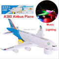 New version A380 Airbus  Toys Airplane with music and lights, large electric music plane toys for kids/boys toys