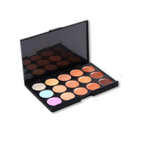 15 Color Concealer Palette Sponge Puff 24 PCS Cosmetic Makeup Brushes Tools Kits Powder Foundation Eyshadow