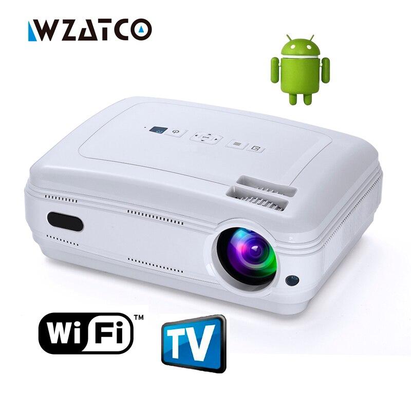 Новые Android 6.0 Smart WI-FI AirPlay Miracast Bluetooth HD светодиодный проектор 5500 люмен ТВ projetor proyector multi для дома