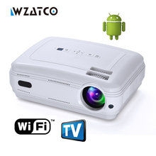 Новые Android 6.0 Smart WI-FI AirPlay Miracast Bluetooth HD led-проектор 5500 люмен ТВ projetor proyector multi для дома